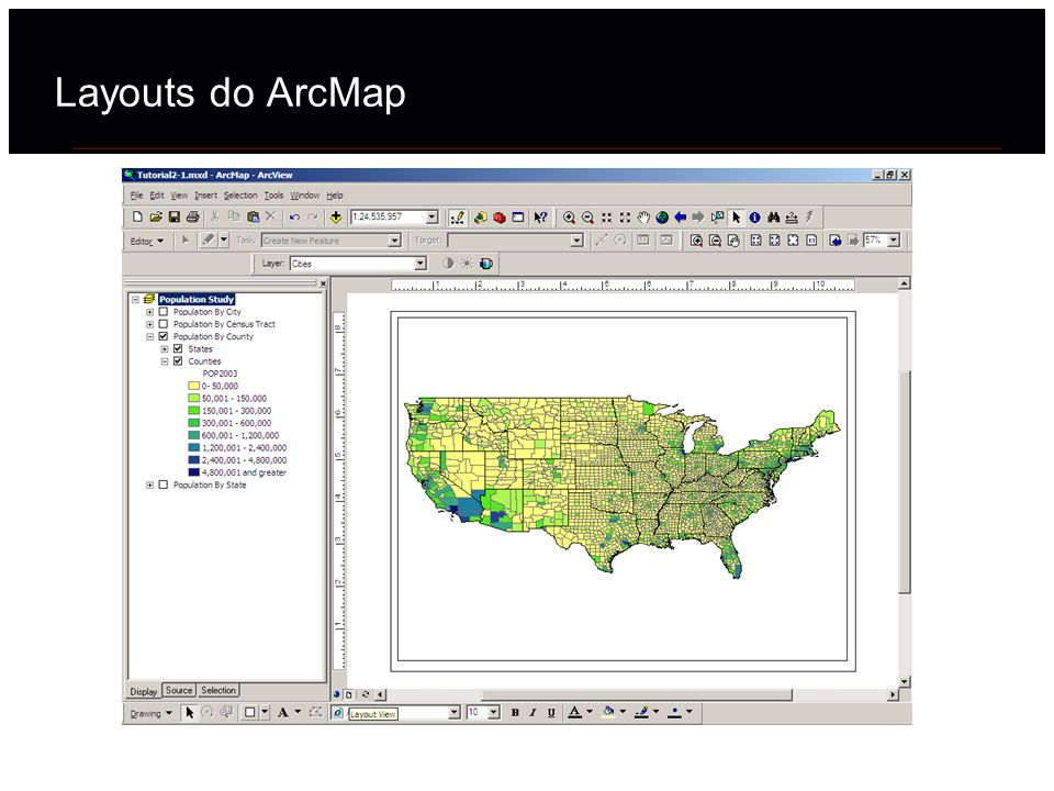 Layouts do ArcMap 19