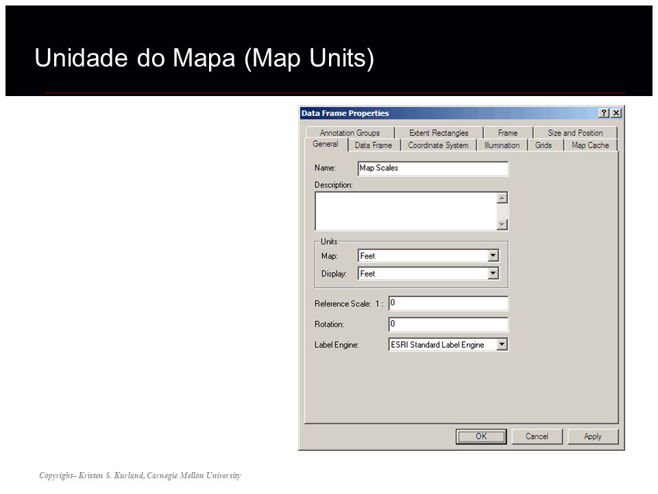 Unidade do Mapa (Map Units)