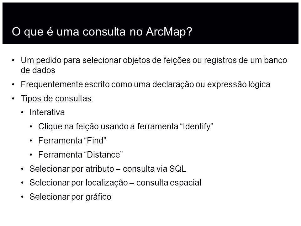 O que é uma consulta no ArcMap