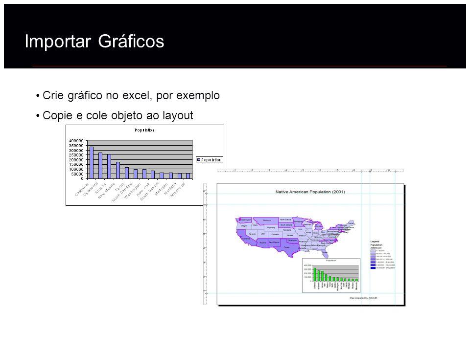 Importar Gráficos Crie gráfico no excel, por exemplo