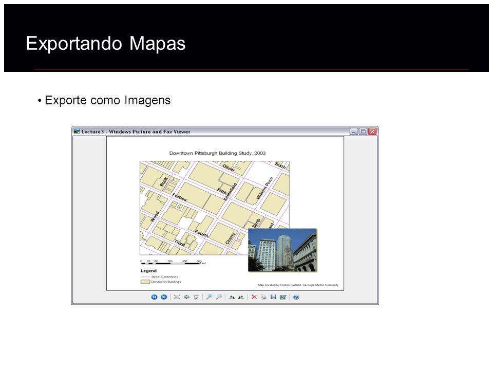 Exportando Mapas Exporte como Imagens 40