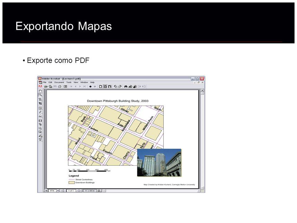 Exportando Mapas Exporte como PDF 41