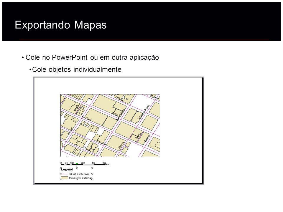 Exportando Mapas Cole no PowerPoint ou em outra aplicação