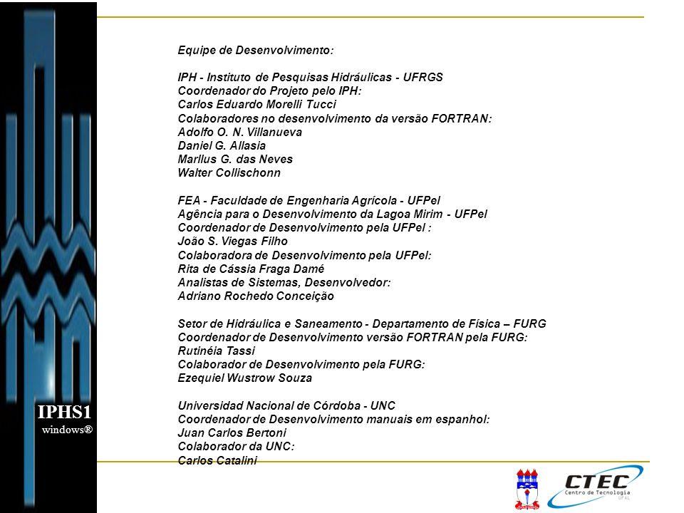 IPHS1 Equipe de Desenvolvimento: