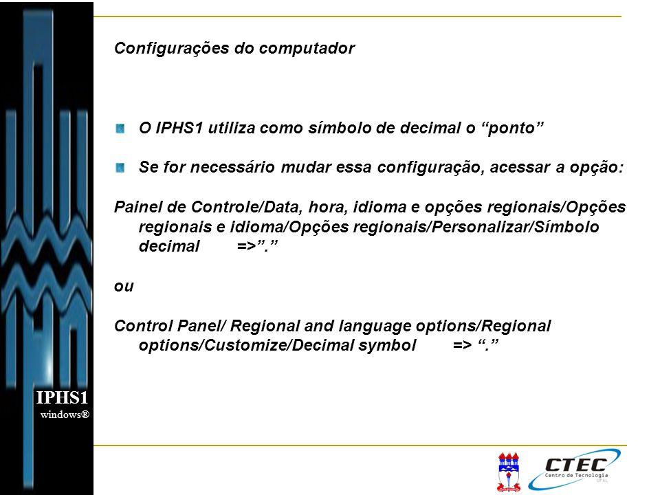 IPHS1 Configurações do computador
