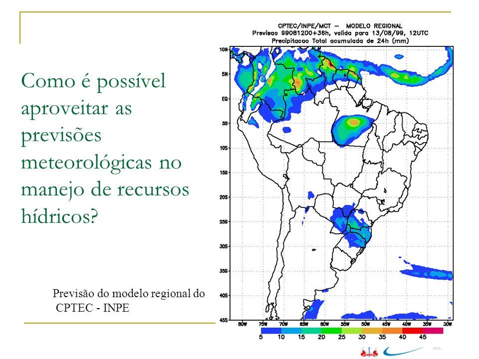Como é possível aproveitar as previsões meteorológicas no manejo de recursos hídricos