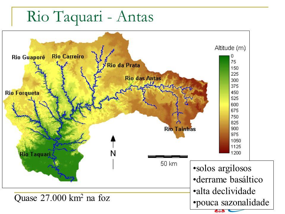 Rio Taquari - Antas solos argilosos derrame basáltico alta declividade