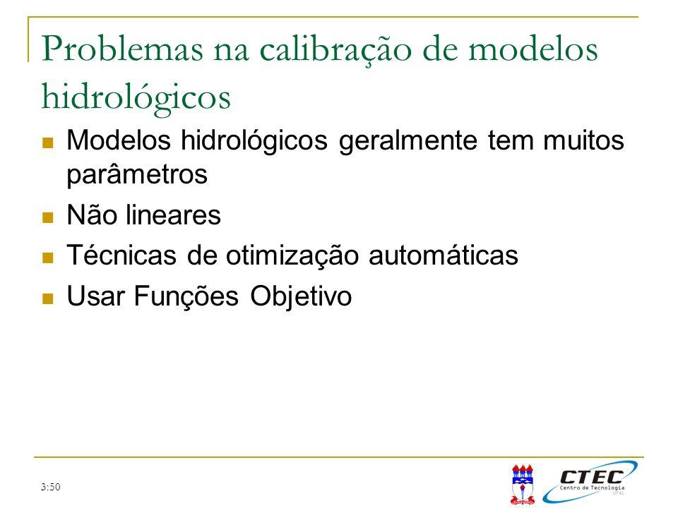Problemas na calibração de modelos hidrológicos