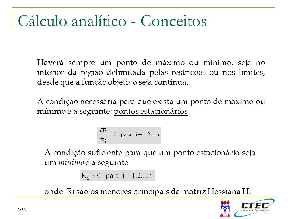 Cálculo analítico - Conceitos