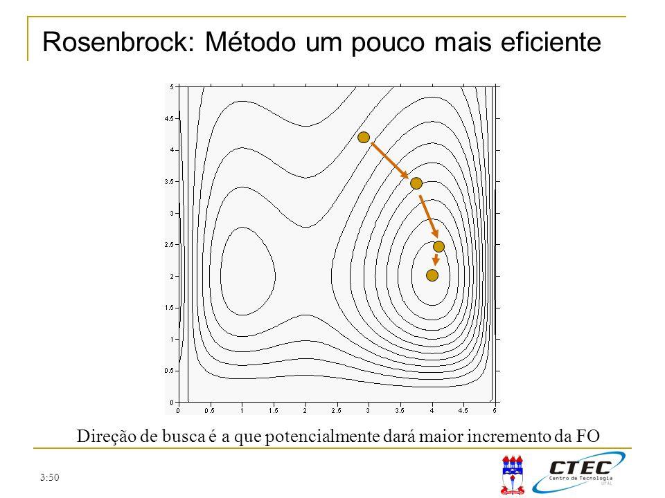 Rosenbrock: Método um pouco mais eficiente