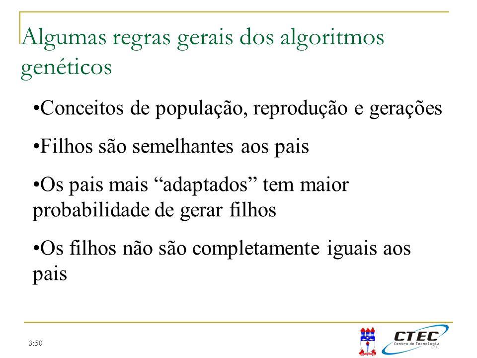 Algumas regras gerais dos algoritmos genéticos