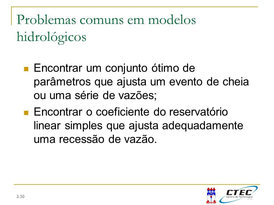 Problemas comuns em modelos hidrológicos