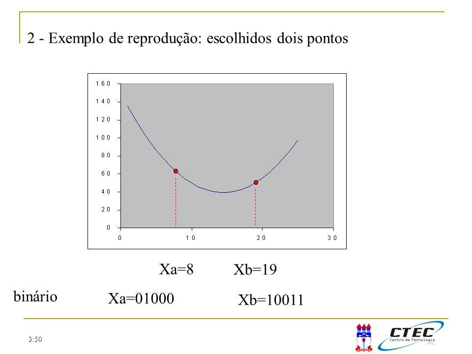 2 - Exemplo de reprodução: escolhidos dois pontos