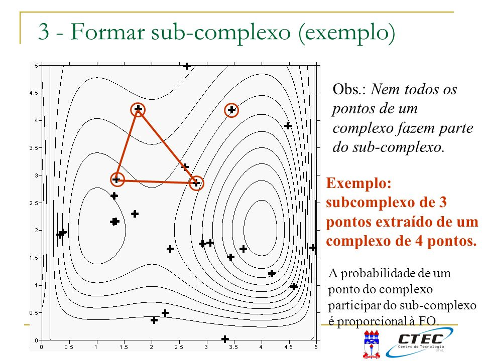 3 - Formar sub-complexo (exemplo)