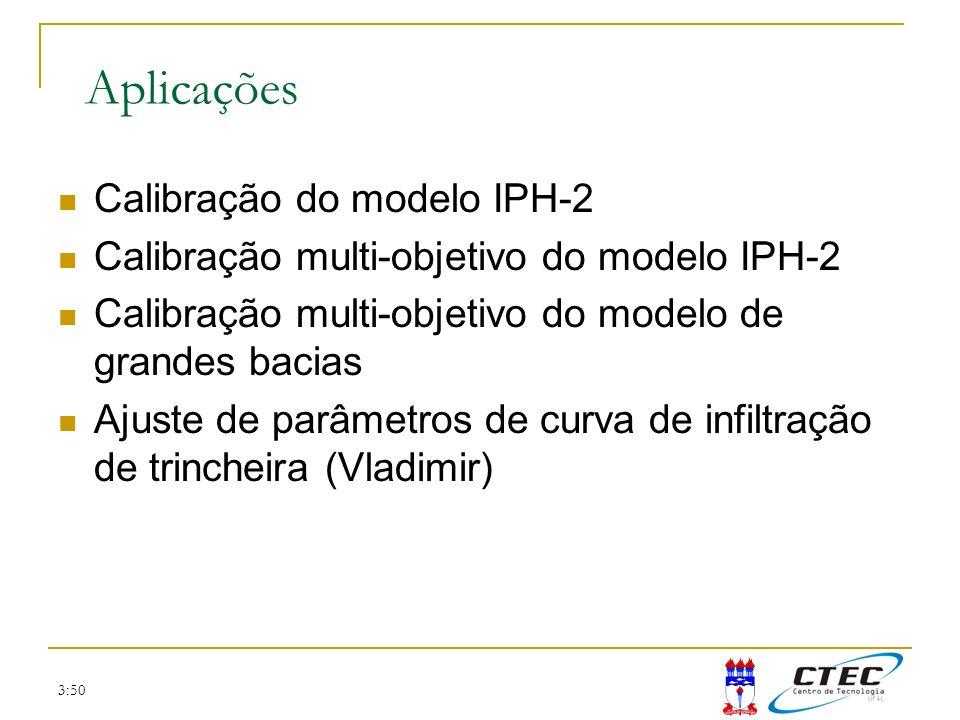 Aplicações Calibração do modelo IPH-2