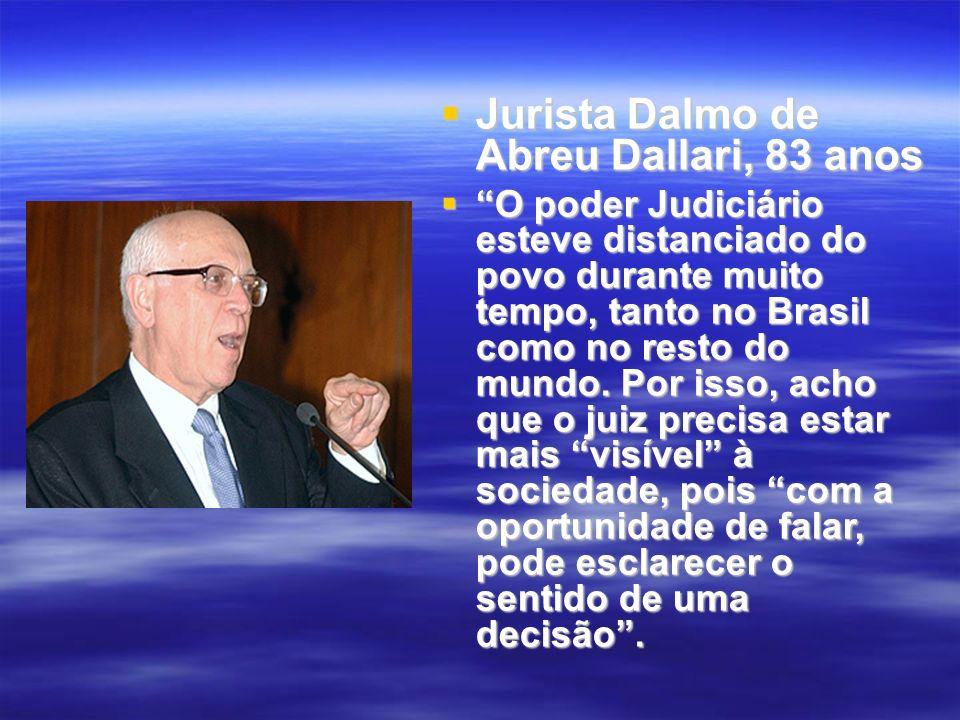 Jurista Dalmo de Abreu Dallari, 83 anos