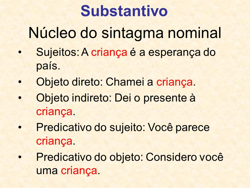 Núcleo do sintagma nominal