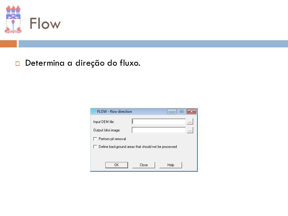 Flow Determina a direção do fluxo.