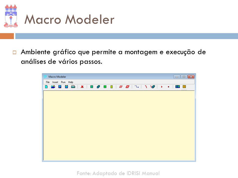 Macro Modeler Ambiente gráfico que permite a montagem e execução de análises de vários passos.