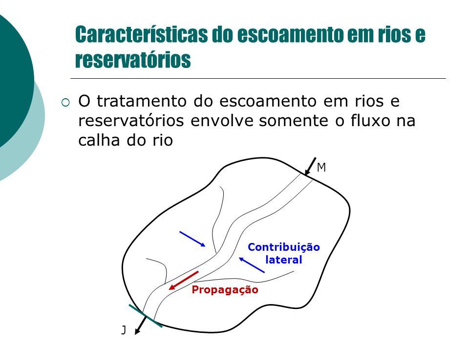 Características do escoamento em rios e reservatórios