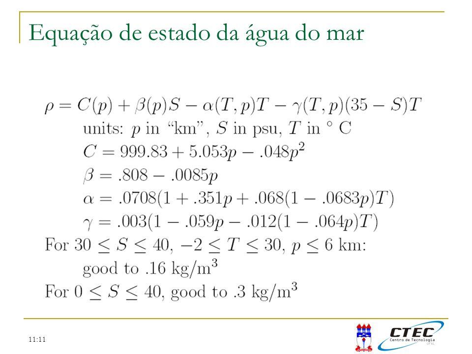 Equação de estado da água do mar