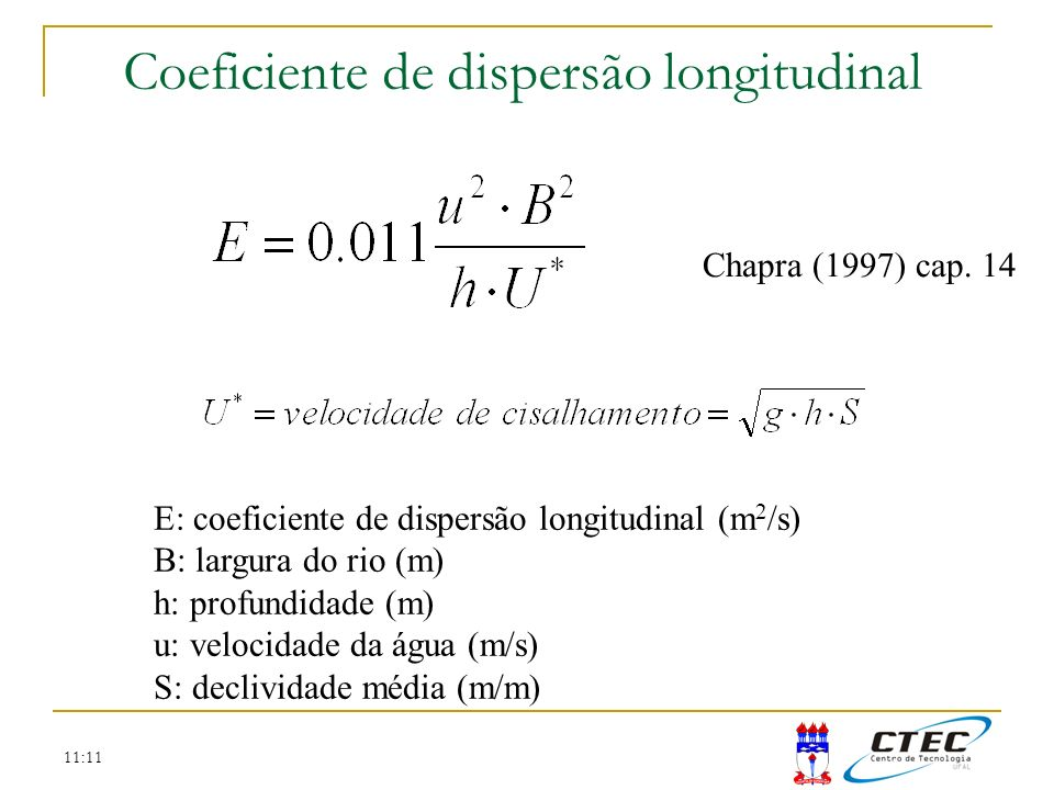 Coeficiente de dispersão longitudinal