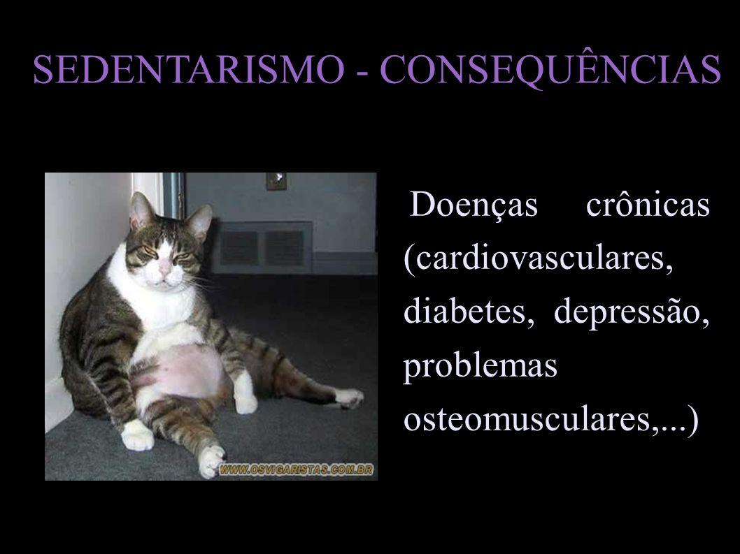 SEDENTARISMO - CONSEQUÊNCIAS
