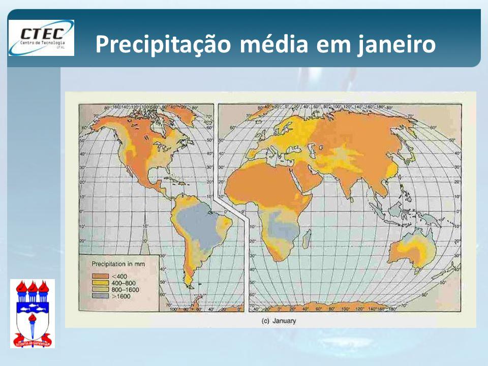 Precipitação média em janeiro