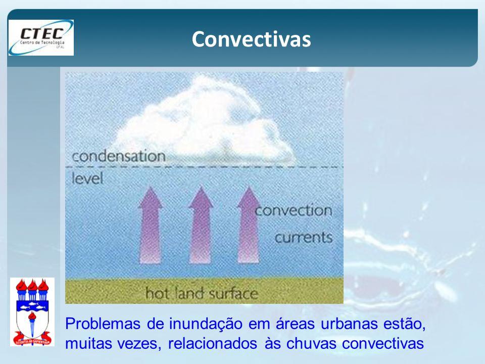 Convectivas Problemas de inundação em áreas urbanas estão, muitas vezes, relacionados às chuvas convectivas.
