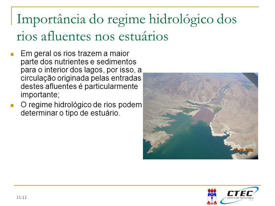 Importância do regime hidrológico dos rios afluentes nos estuários