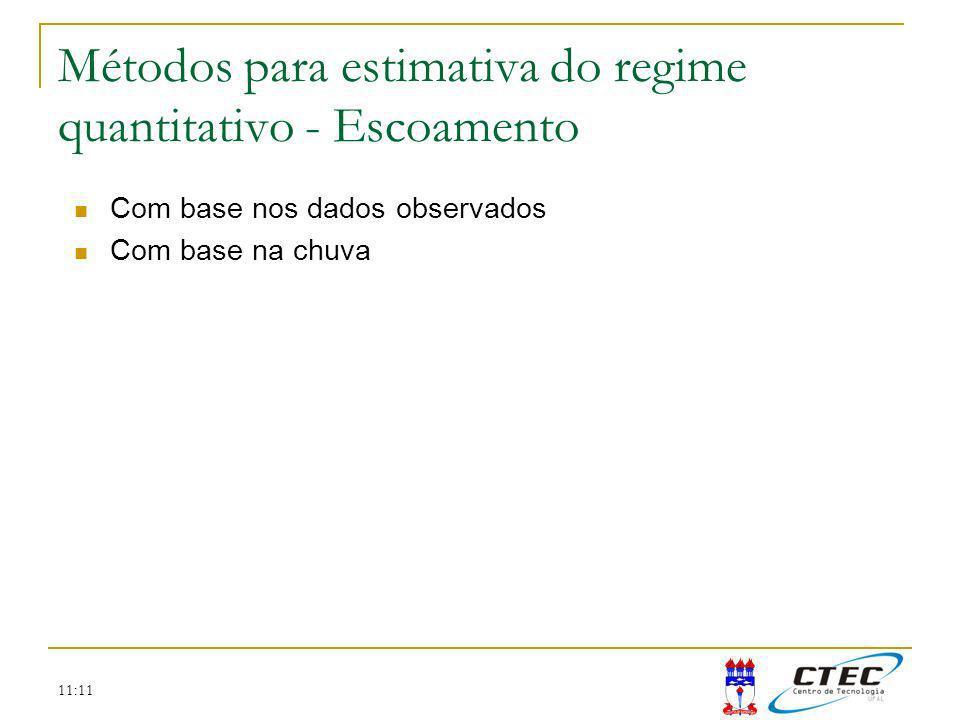 Métodos para estimativa do regime quantitativo - Escoamento