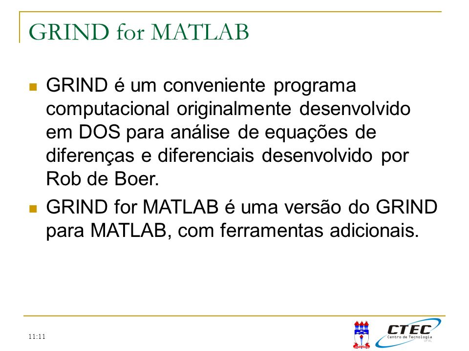 GRIND for MATLAB
