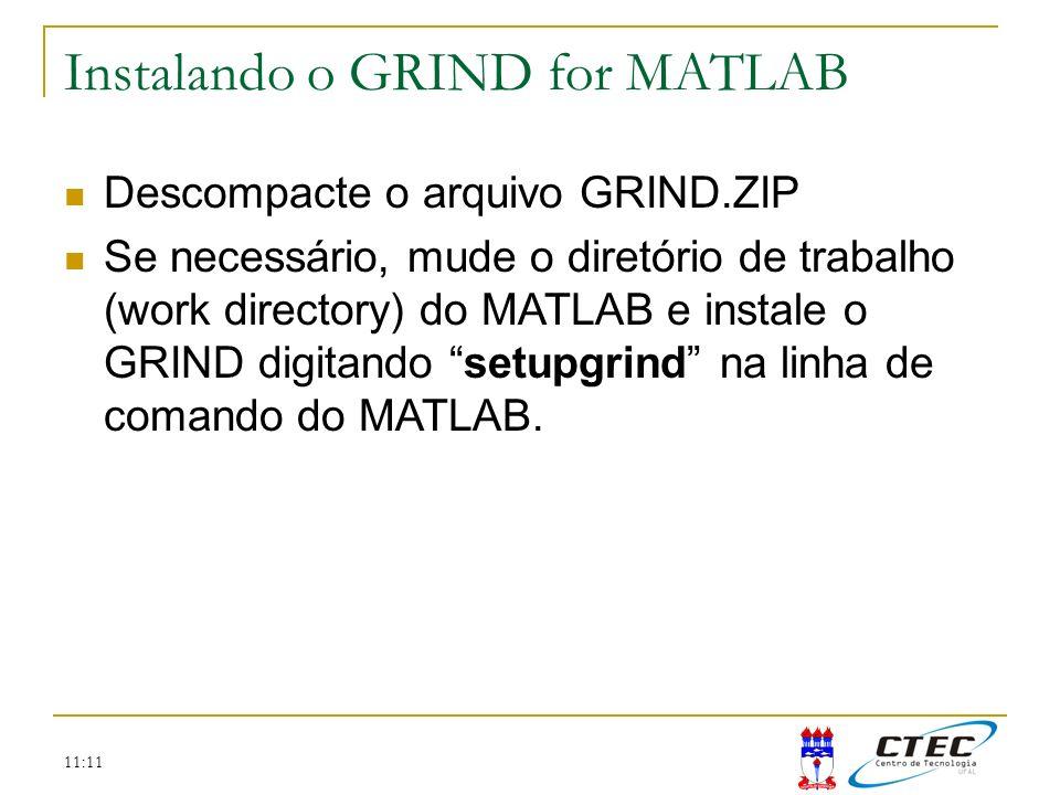 Instalando o GRIND for MATLAB
