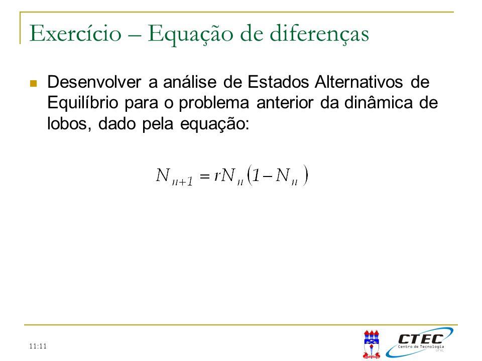 Exercício – Equação de diferenças