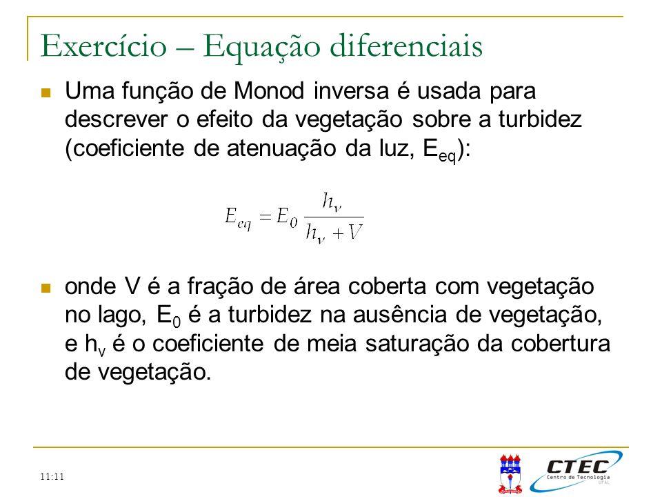 Exercício – Equação diferenciais