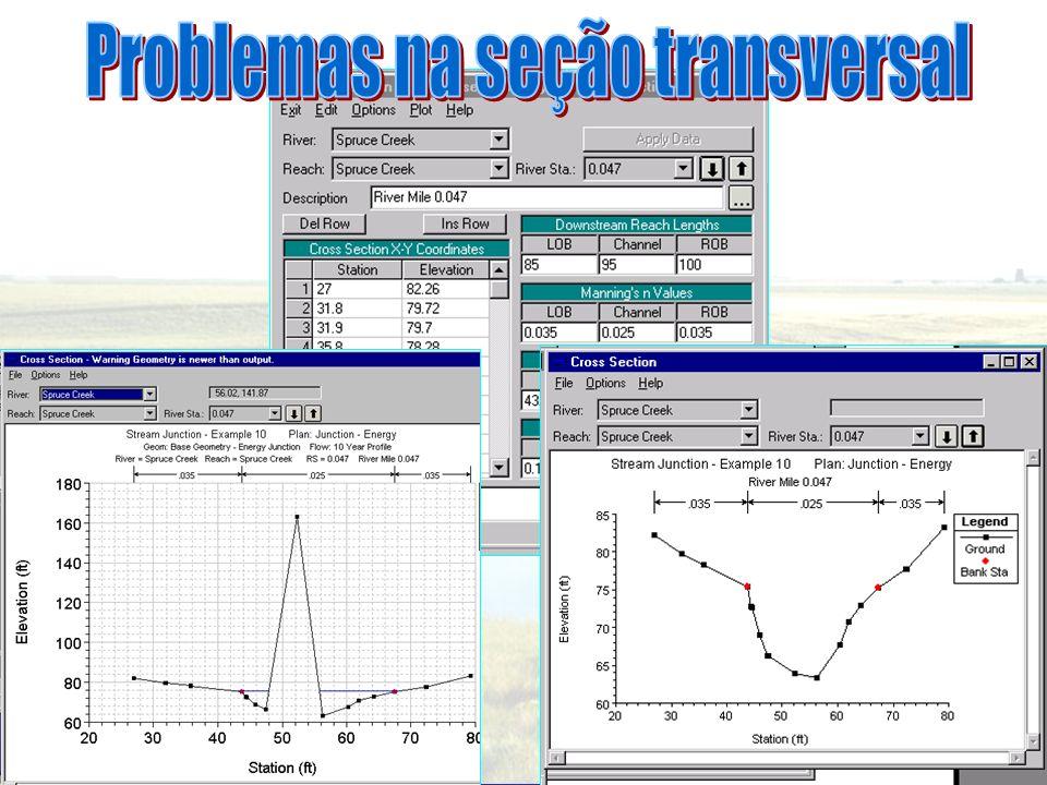 Problemas na seção transversal
