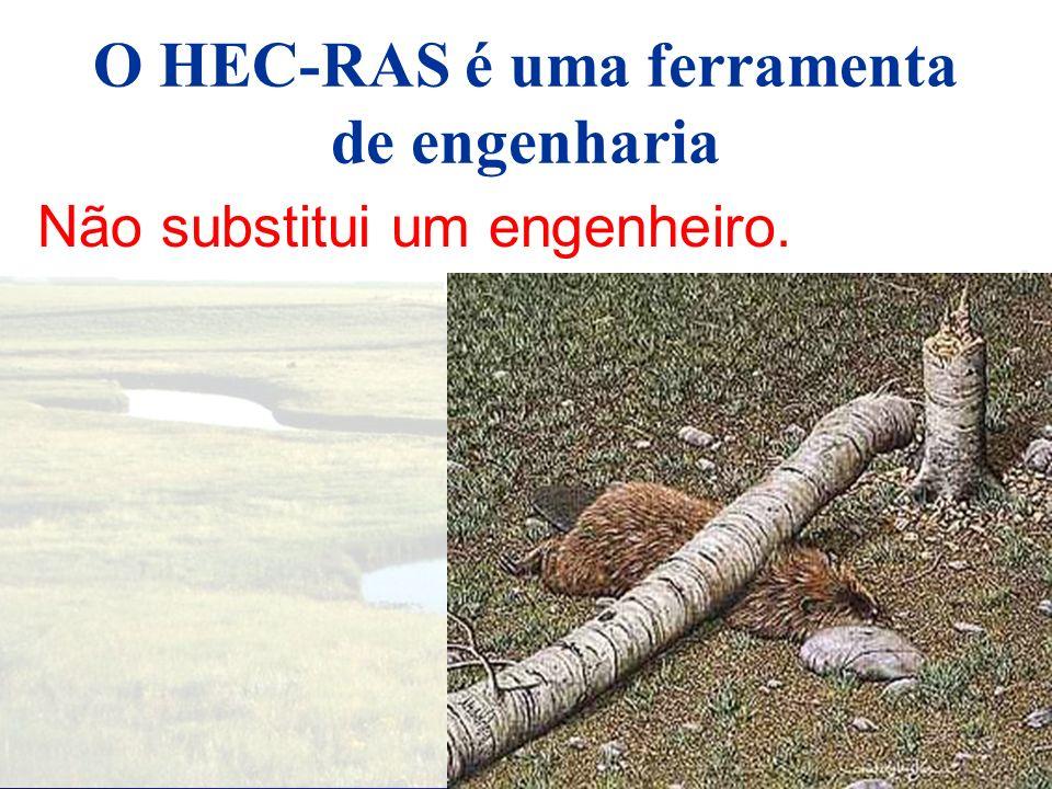 O HEC-RAS é uma ferramenta de engenharia