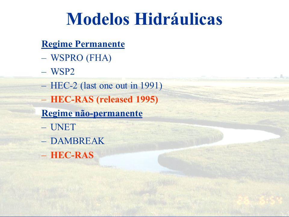 Modelos Hidráulicas Regime Permanente WSPRO (FHA) WSP2