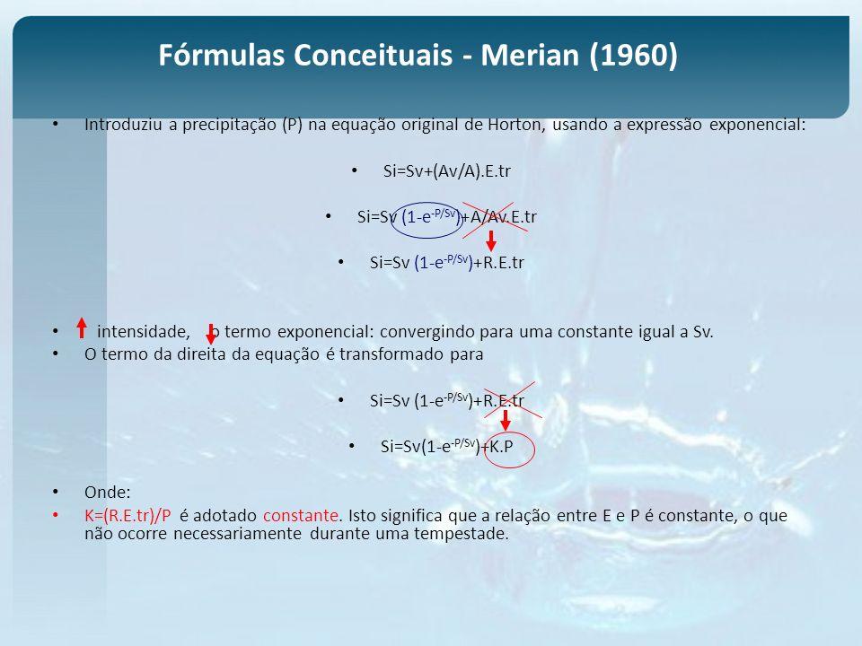 Fórmulas Conceituais - Merian (1960)