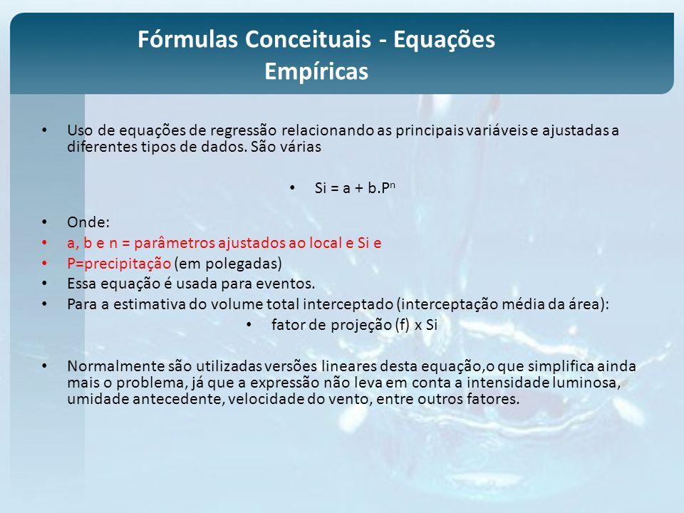 Fórmulas Conceituais - Equações Empíricas