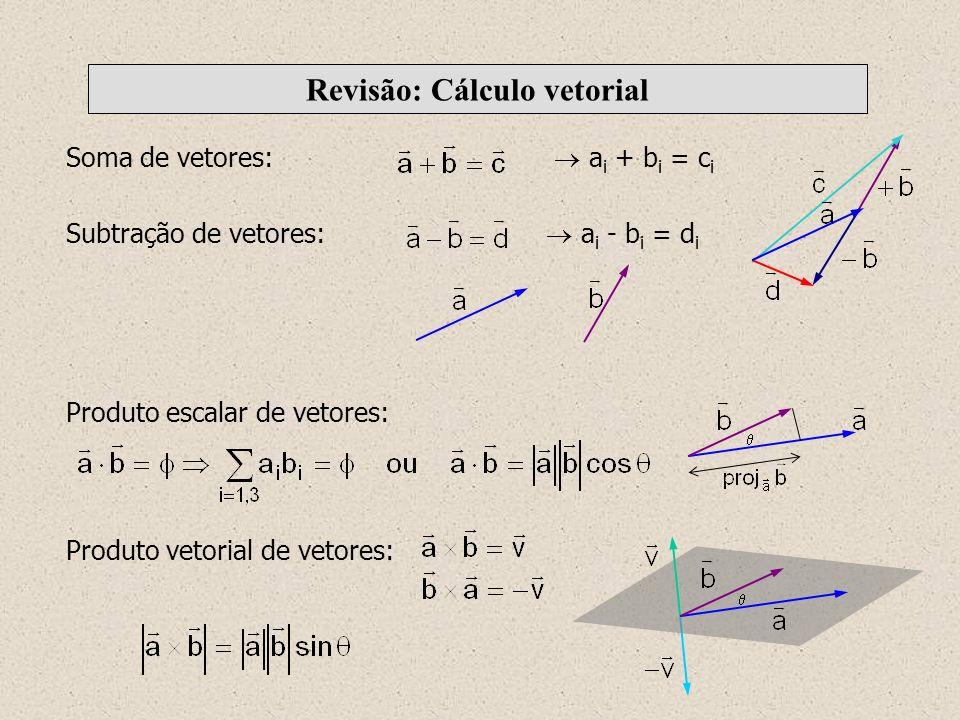Revisão: Cálculo vetorial