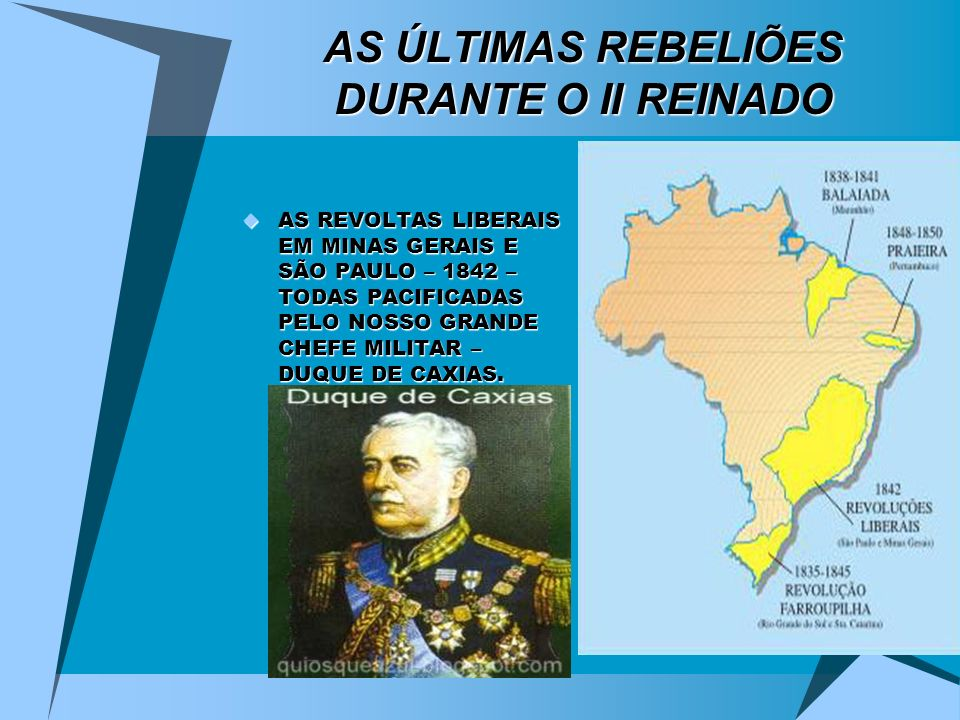 AS ÚLTIMAS REBELIÕES DURANTE O II REINADO