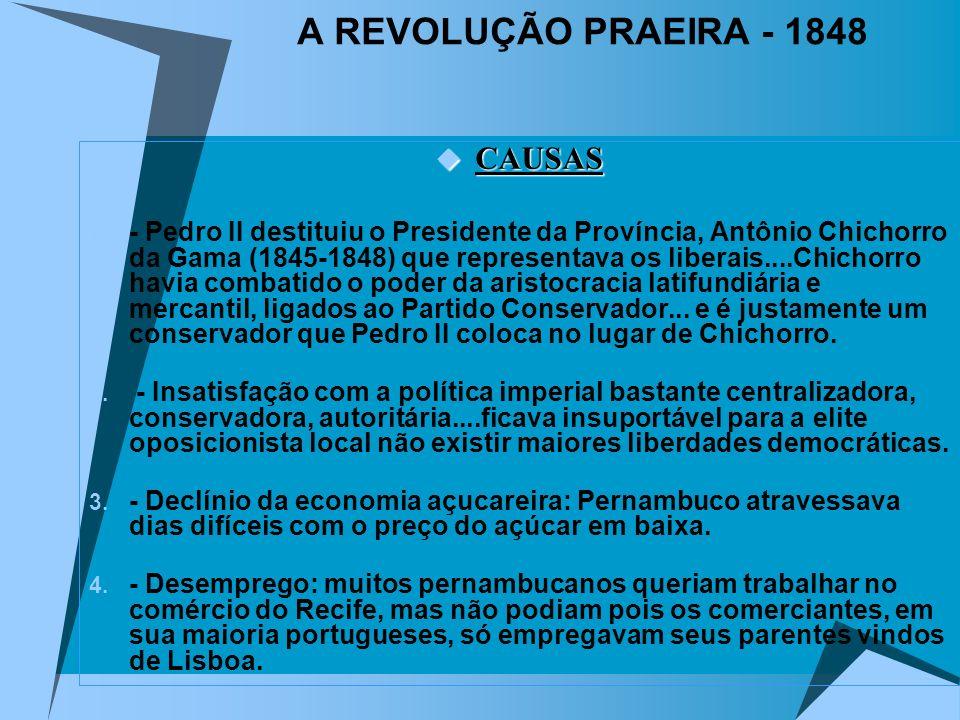 A REVOLUÇÃO PRAEIRA - 1848 CAUSAS