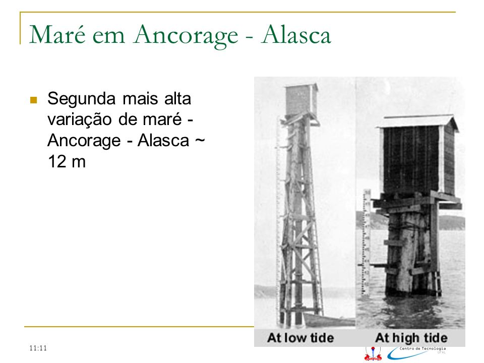 Maré em Ancorage - Alasca