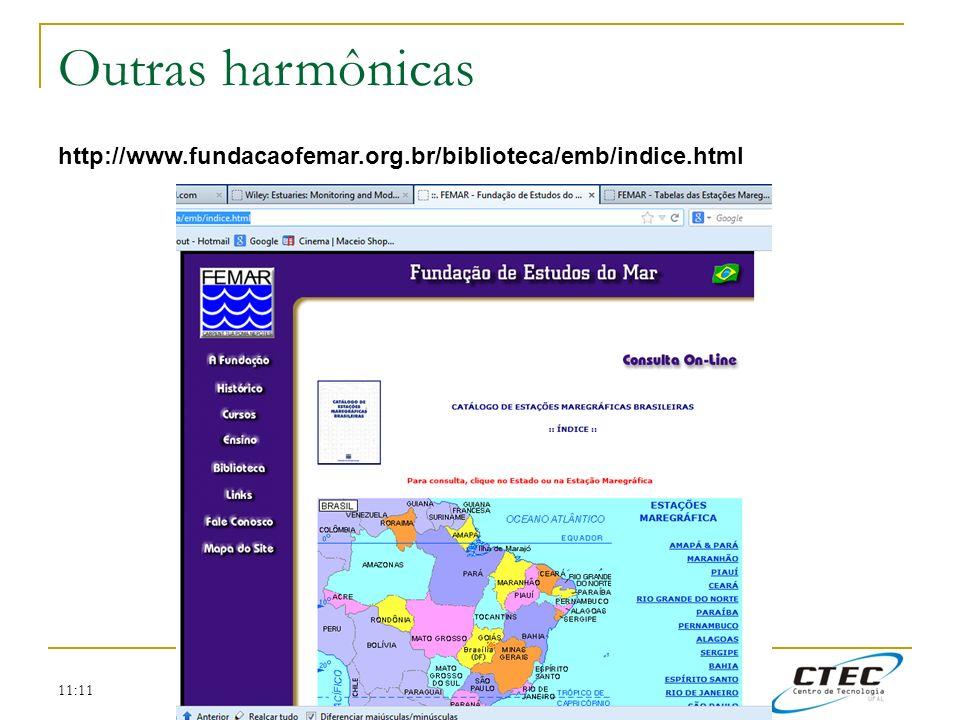 Outras harmônicas http://www.fundacaofemar.org.br/biblioteca/emb/indice.html 11:11