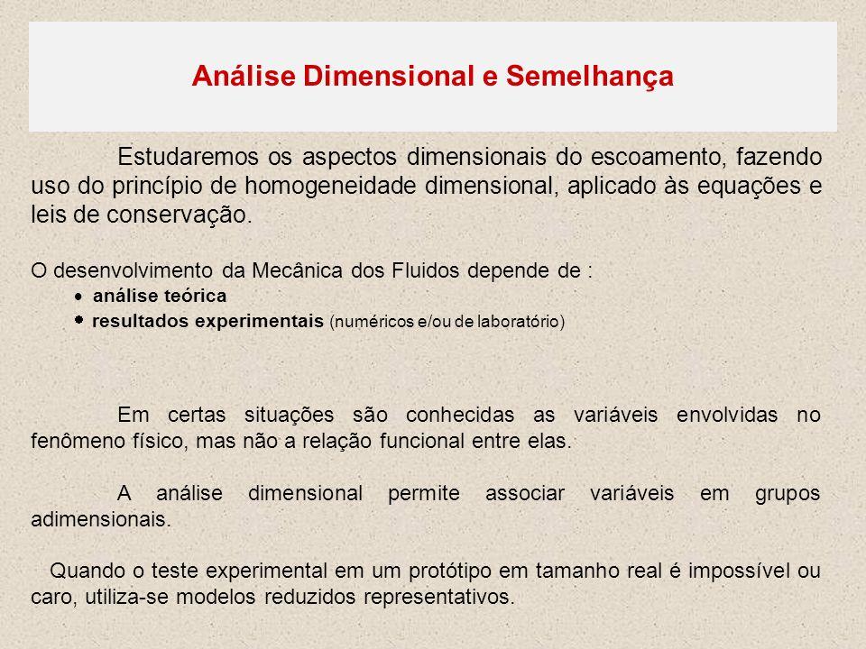 Análise Dimensional e Semelhança