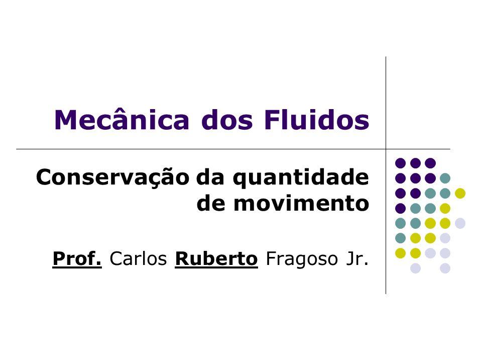Mecânica dos Fluidos Conservação da quantidade de movimento
