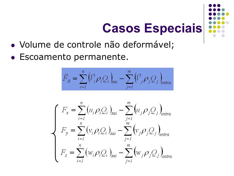 Casos Especiais Volume de controle não deformável;