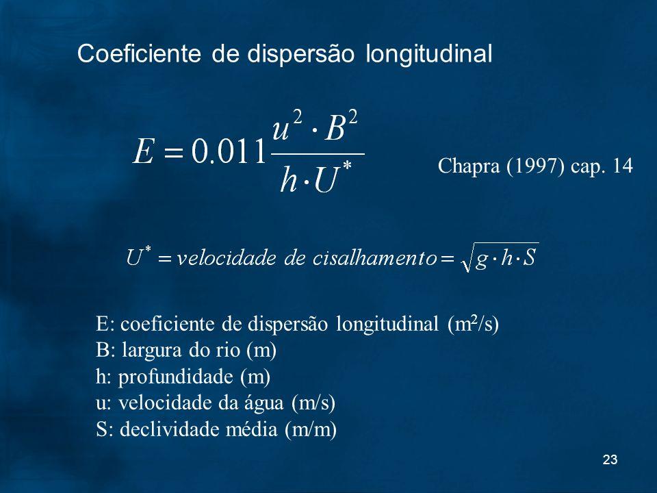 Coeficiente de dispersão longitudinal