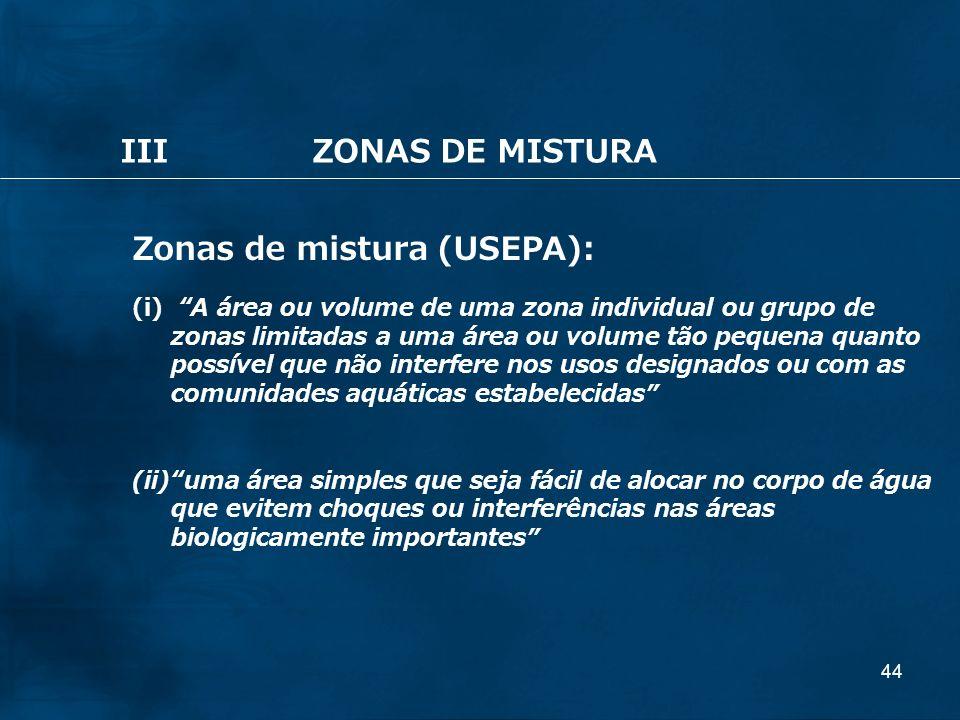 Zonas de mistura (USEPA):